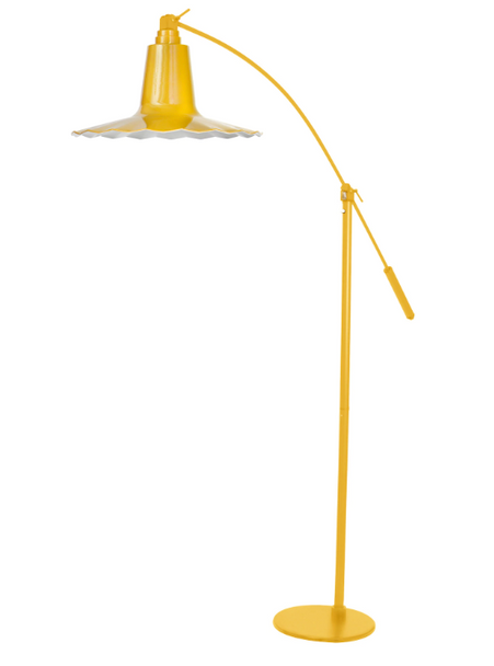 "12"" Iris LED Floor Lamp - Yellow"