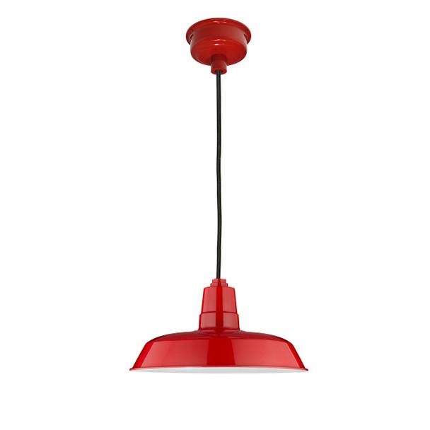 "18"" Oldage LED Pendant Light - Cherry Red"