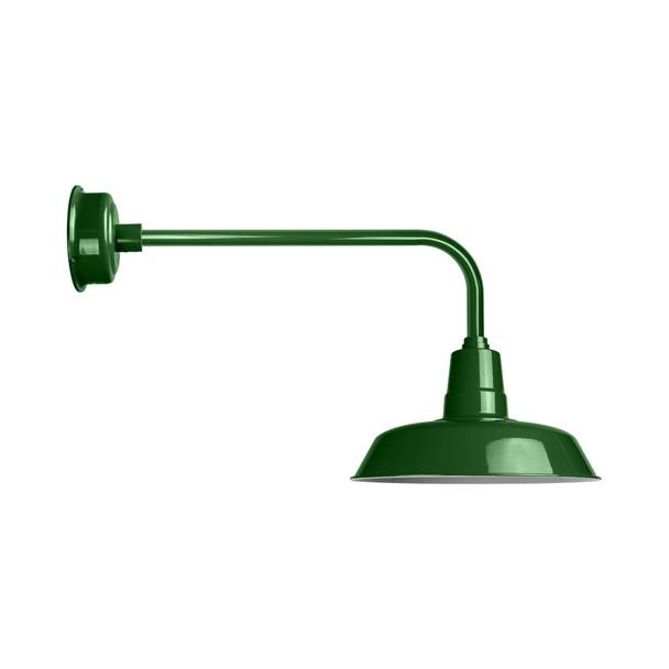 "18"" LED Traditional Indoor/Outdoor Vintage Green Oldage Barn Light"
