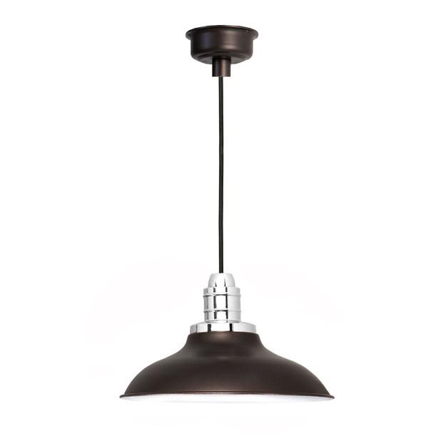 """12"""" Peony LED Pendant Light - Mahogany Bronze"""
