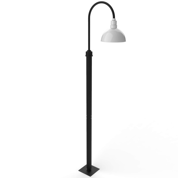 Blackspot Outdoor Post Lamp with White Shade