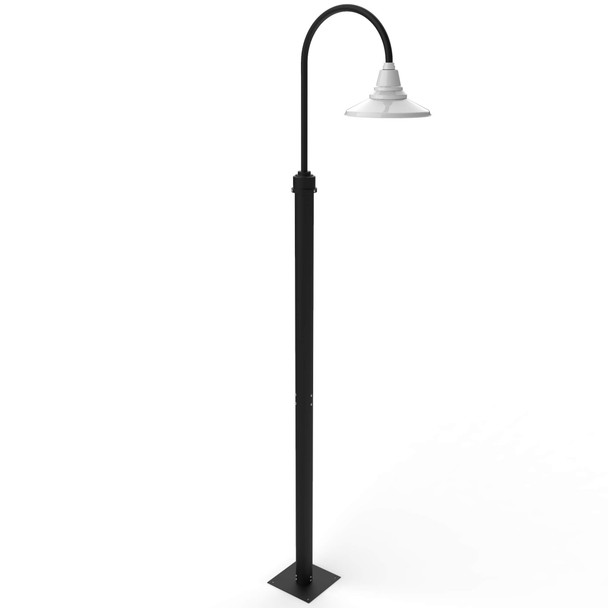 Calla Outdoor Post Light with White Shade