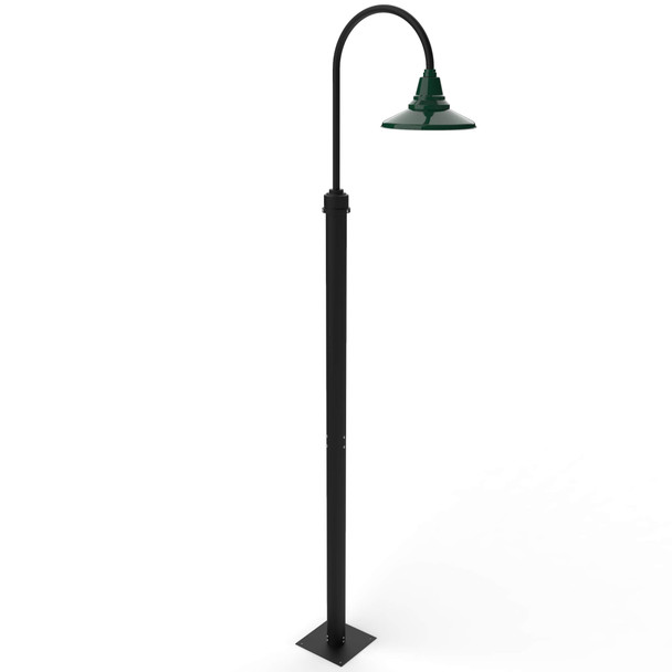 Calla outdoor Lamp Post Light with Vintage Green Shade