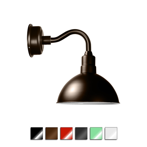 Blackspot Gooseneck Barn Sconce Light with Chic Arm