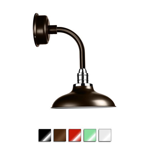 Peony Metal Wall Sconce Light with Trim Arm