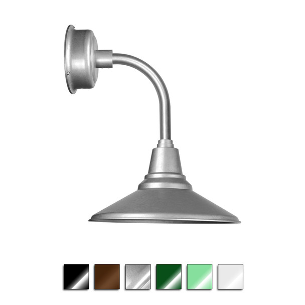 Calla Indoor/Outdoor Wall Barn Sconce Light with Trim Arm