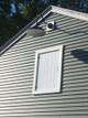 "Lifestyle View of Indoor/Outdoor Oldage 16"" Black Vintage LED Barn Light"