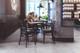 "20"" Calla LED Barn Light with Metropolitan Arm in a cafe"