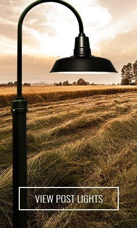 Cocoweb LED Industrial Barn Lamp Post