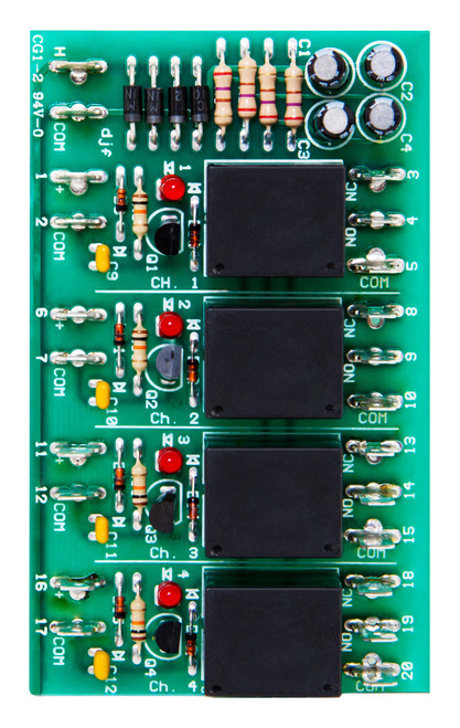 LCRM 4-QC  4 Channel Low Current Relay Module Quick Connect