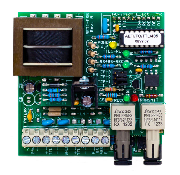 AETI-FO/TTL1/RS485:  Atkinson Electronics Trunk Interface - Fiber Optic