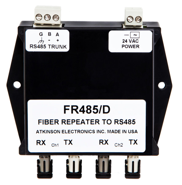 FR485/D:  RS 485 to Dual Fiber Optic Repeater