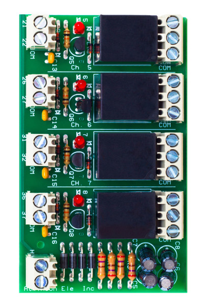 LCRM 4-ST  4 Channel Low Current Relay Module Screw Terminal