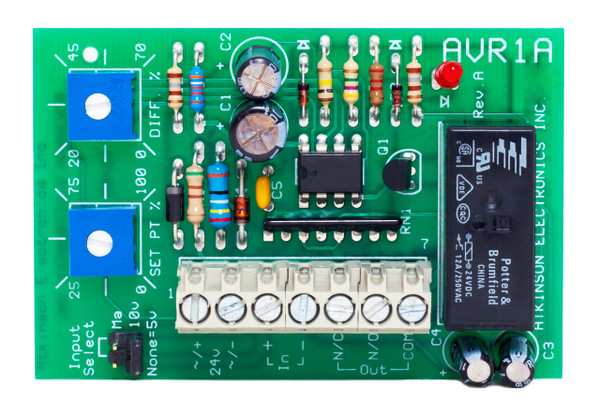 AVR1A-S:  Adjustable Voltage Sensitive Relay Single-turn