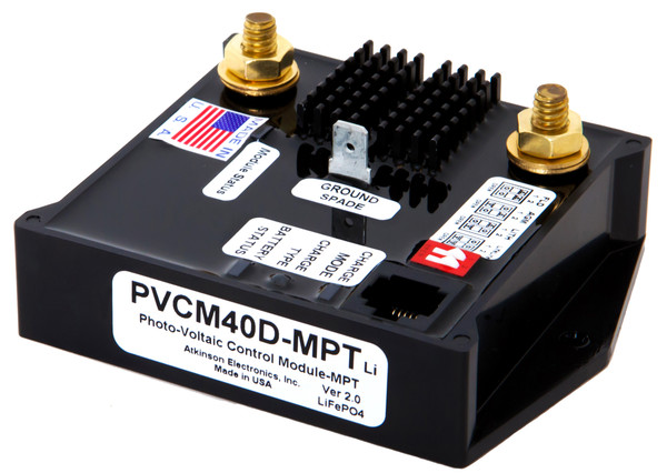 PVCM40D-MPTLi:  Solar Charge Module programmed for Lithium batteries using Multi Point Tracking