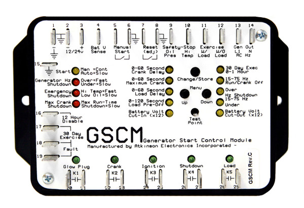 GSCM:  Generator Start Control Module (Rev. C5.13 Custom Firmware)
