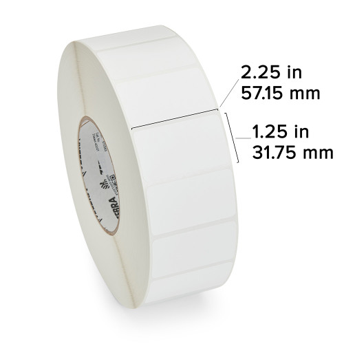 """Zebra 2.25"""" x 1.25"""" Z-Select 4000T Label (Case) - 72283"""