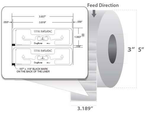 "Zebra 3.819"" x 1.063"" Z-Perform 1500T RFID Label (Case) - 10018353"