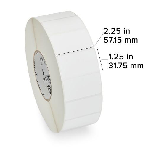 """Zebra 2.25"""" x 1.25"""" Z-Select 4000T Label (Case) - 800622-125"""