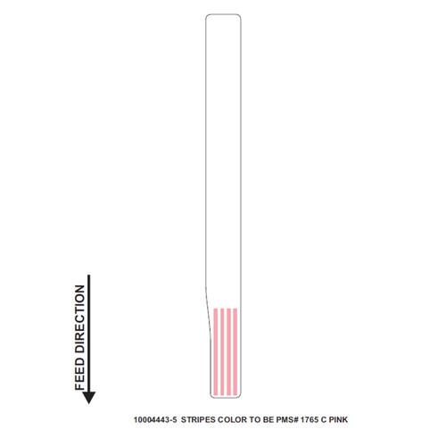 "Zebra 1"" x 11"" Z-Band Direct Wristband (Pink) (Case) - 10004443-5"