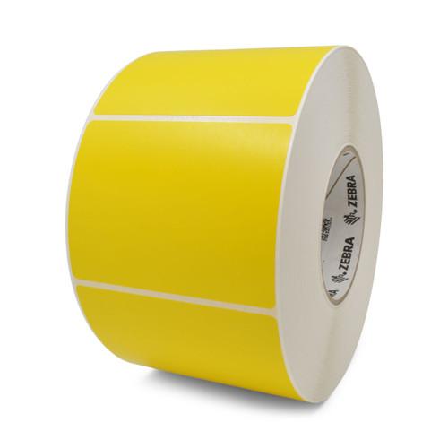 """Zebra 4"""" x 3"""" Z-Perform 2000T Label (Yellow) (Case) - 10006209-1"""