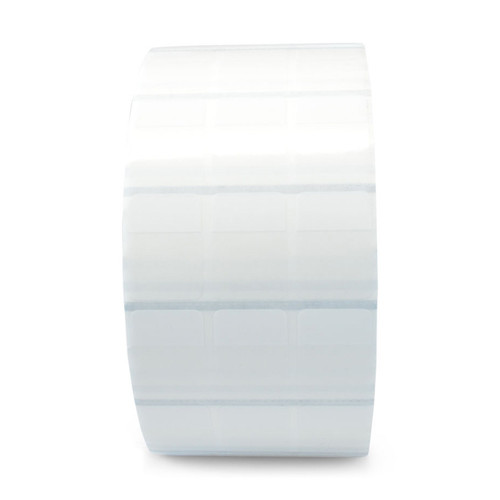 "Zebra 1"" x 2.25"" 8000T Vinyl Clear Self-Laminating Wire Wrap Label (Clear) (Case) - 10015770"