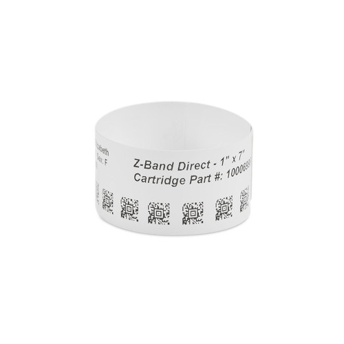 "Zebra 1"" x 7"" Z-Band UltraSoft Wristband (Case) - 10015357K"