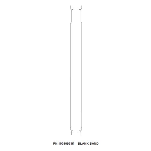 "Zebra 1"" x 11"" Z-Band Comfort Wristband (Case) - 10010951K"