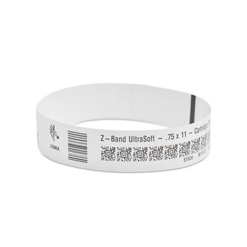 "Zebra 0.75"" x 11"" Z-Band UltraSoft Wristband (Case) - 10018855"