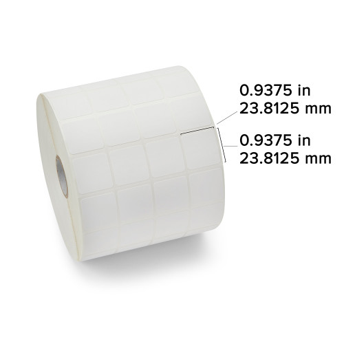 "Zebra 0.9375"" x 0.9375"" PolyPro 4000T Label (Case) - 10007446"