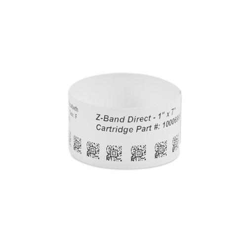 """Zebra 1"""" x 7"""" Z-Band Direct Wristband (Case) - 10003852"""