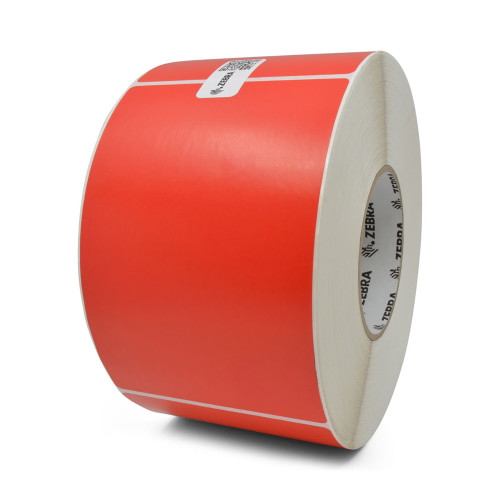 "Zebra 4"" x 6"" Z-Perform 2000T Label (Red) (Case) - 10006208-5"