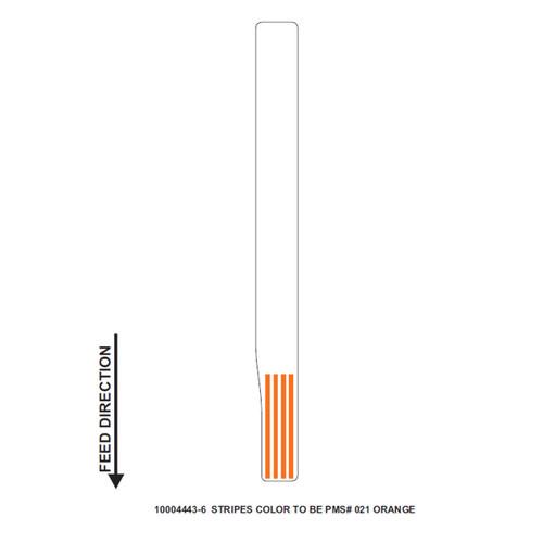 """Zebra 1"""" x 11"""" Z-Band Direct Wristband (Orange) (Case) - 10004443-6"""