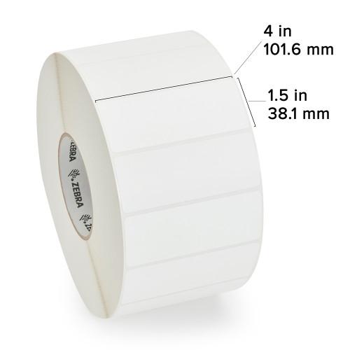 """Zebra 4"""" x 1.5"""" Z-Select 4000T Label (Case) - 800640-155"""