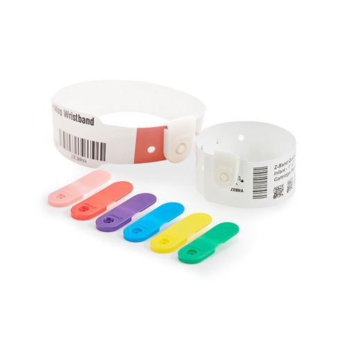 """Zebra 1"""" x 7"""" Z-Band QuickClip Wristband (Case) - 10004821K"""