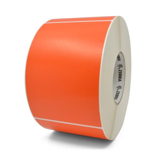 """Zebra 4"""" x 6"""" Z-Perform 2000T Label (Orange) (Case) - 10006208-4"""