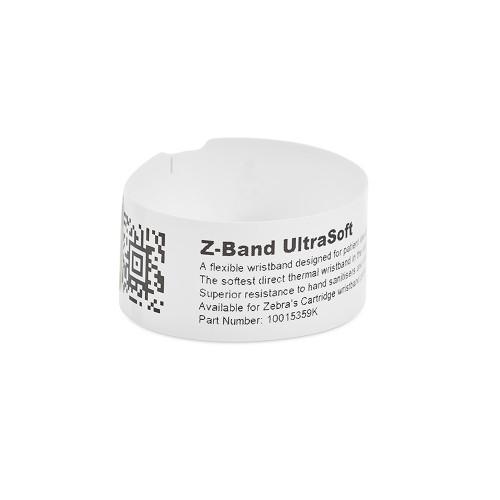 "Zebra 1"" x 6"" Z-Band UltraSoft Wristband (Case) - 10015358K"
