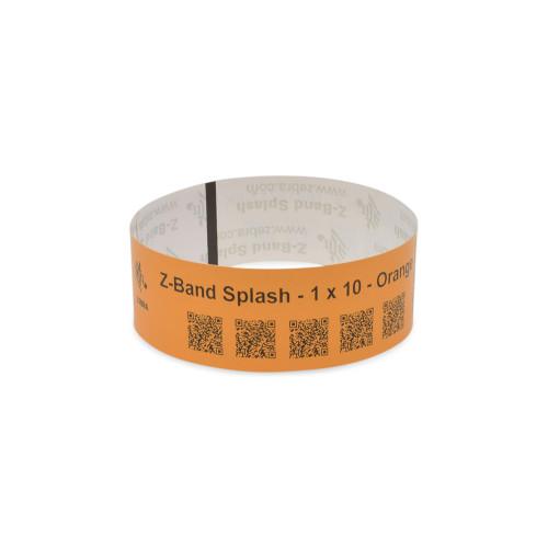 "Zebra 1"" x 10"" Z-Band Splash Wristband (Orange) (Case) - 10012718-6"