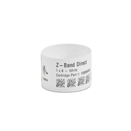 """Zebra 1"""" x 6"""" Z-Band Direct Wristband (Case) - 10006998K"""