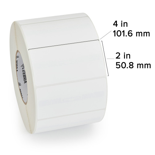 "Zebra 4"" x 2"" PolyPro 3000T Label (Case) - 10011994"
