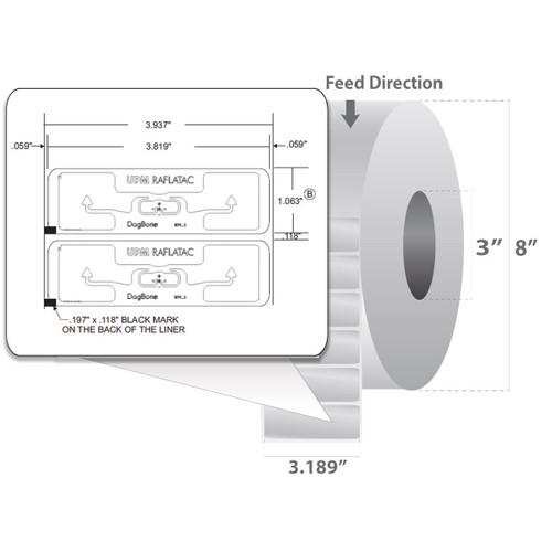 "Zebra 3.819"" x 1.063"" Z-Perform 1500T RFID Label (Case) - 10015351"