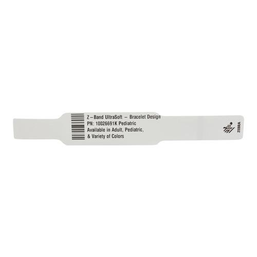 """Zebra 1"""" x 7"""" Z-Band UltraSoft Bracelet Design Wristband (Case) - 10026691K"""