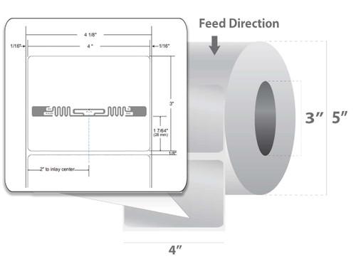 "Zebra 4"" x 3"" Z-Perform 1500T RFID Label (Case) - 10026452"