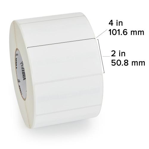 "Zebra 4"" x 2"" Z-Perform 1500T RFID Label (Case) - 10026647"
