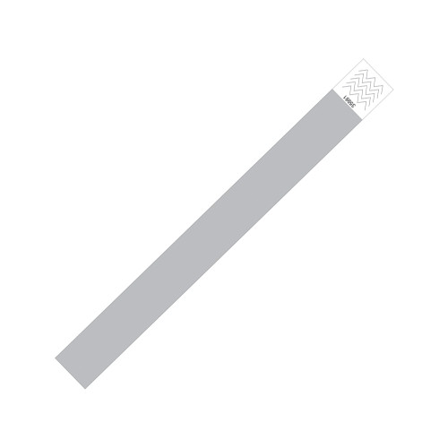 "Zebra 1"" x 10"" Tyvek Alert Blank Wristband (Silver) (Case) - TY-BLANK-SIL"