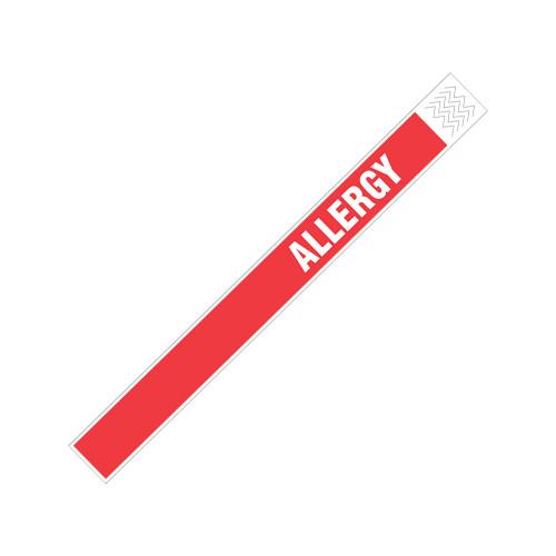 "Zebra 1"" x 10"" Tyvek Alert Alergy Wristband (Red) (Case) - TY-ALLERGY"