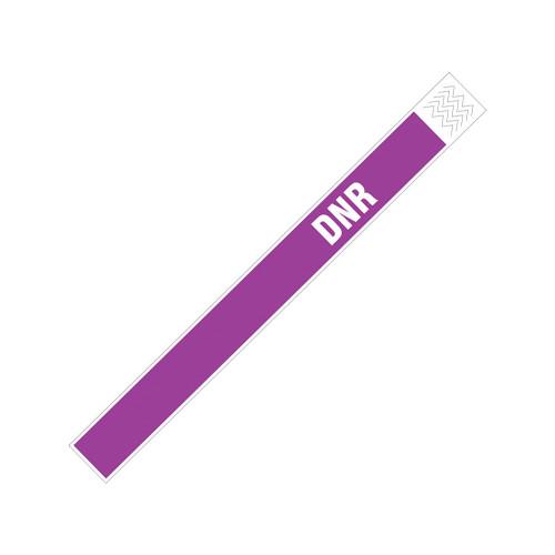 "Zebra 1"" x 10"" Tyvek Alert DNR Wristband (Purple) (Case) - TY-DNR-PUR"