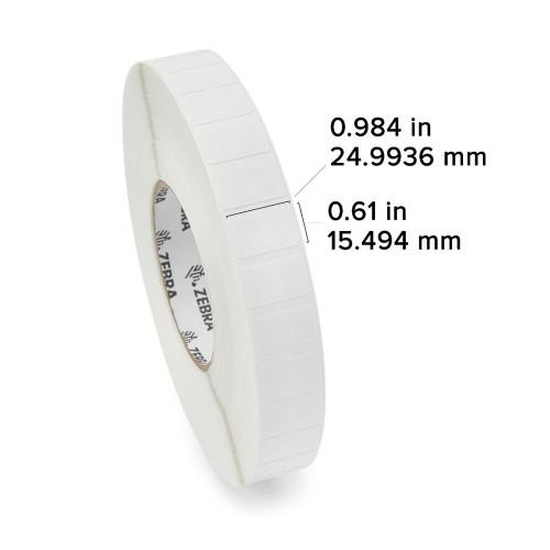 "Zebra 0.984"" x 0.61"" PolyPro 3000T RFID Label (Case) - 10026628"