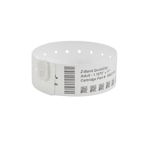 """Zebra 1.1875"""" x 11"""" Z-Band QuickClip Wristband (Case) - 10027730K"""