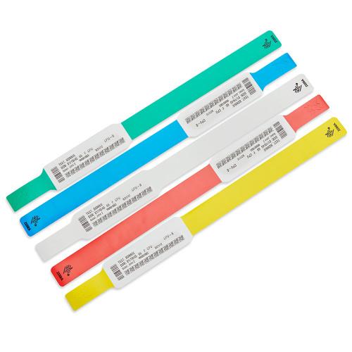 """Zebra 1"""" x 10.75"""" Z-Band UltraSoft Bracelet Design Wristband (Blue) (Case) - 10033832-2K"""